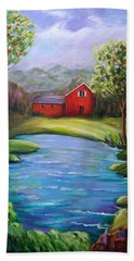 House By The Lake Hand Towel