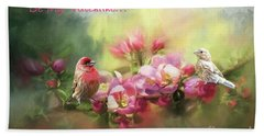 House Finch Valentine Hand Towel