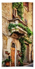 House In Arezzoo, Italy Hand Towel by Marion McCristall