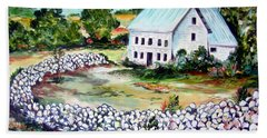 Hand Towel featuring the painting House In Bosnia H Kalinovik by Roberto Gagliardi