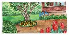 House In The Country With A Garden Hand Towel