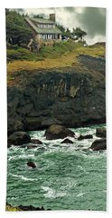 House On The Cliff Bath Towel by Katie Wing Vigil
