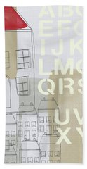 House Plans 2- Art By Linda Woods Hand Towel