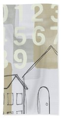 House Plans 3- Art By Linda Woods Hand Towel