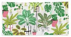 House Plants Hand Towel