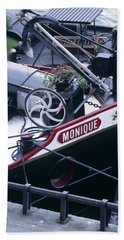 Houseboat In France Hand Towel