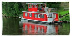 Houseboat On The Mississippi River Hand Towel