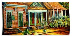 Houses In The Marigny Hand Towel