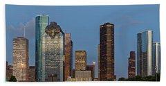 Bath Towel featuring the photograph Houston Skyline Panorama by Jonathan Davison
