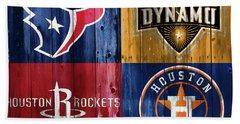 Houston Sports Teams Barn Door Bath Towel