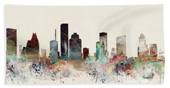 Houston Texas Skyline Hand Towel