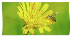 Hand Towel featuring the photograph Hoverfly June 2016. by Leif Sohlman