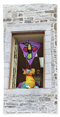 Bath Towel featuring the photograph How Much Is That Dragon In The Window by John Schneider