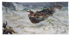 How The Boat Came Home Bath Towel