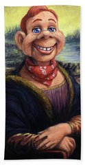 Hand Towel featuring the painting Howdy Doovinci by James W Johnson