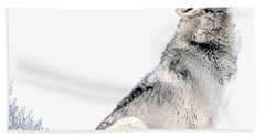 Howling Wolf 1 Hand Towel