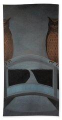 Hand Towel featuring the painting Hu-hu-bro by Tone Aanderaa