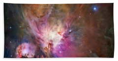 Hubble's Sharpest View Of The Orion Nebula Bath Towel