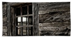 Hand Towel featuring the photograph Hudson Bay Fort Window by Brad Allen Fine Art