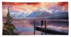Hudson Bay Winter Fishing Bath Towel by Judy Filarecki