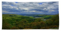 Hudson River Looking North From Bear Mountain Bath Towel