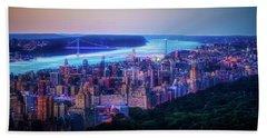 Hudson River Sunset Hand Towel