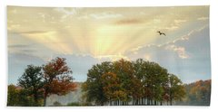 Hand Towel featuring the photograph Hudson Springs Morning by Ann Bridges