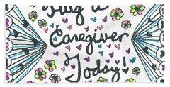 Hug A Caregiver Hand Towel