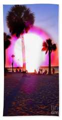 Huge Sun Pine Island Sunset  Hand Towel