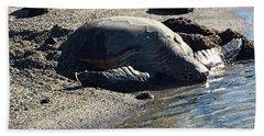 Huge Sea Turtle Bath Towel by Karen Nicholson
