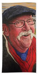 Hand Towel featuring the painting Hugh Hanson Davidson by Tom Roderick