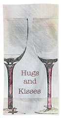 Hugs And Kisses Hand Towel