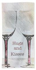 Hugs And Kisses Bath Towel