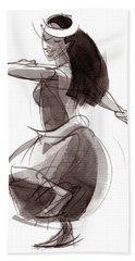 Hula Dancer Olina Hand Towel