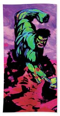 Hulk Smash Bath Towel