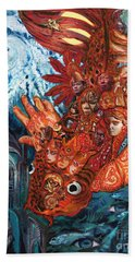 Humanity Fish Hand Towel by Emily McLaughlin