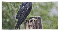 Humbled Crow Bath Towel