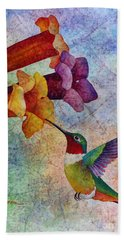 Hummer Time Hand Towel by Hailey E Herrera