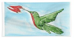 Hummer With Flower Hand Towel