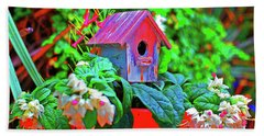 Humming Bird House Hand Towel