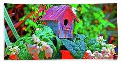 Humming Bird House Bath Towel