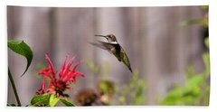 Humming Bird Hovering Hand Towel