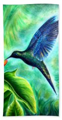 Humming Bird  Bath Towel