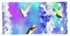 Humming Bird Trio Bath Towel