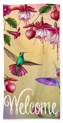 Humming Bird Welcome-jp2778 Hand Towel