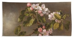 Hummingbird And Apple Blossoms Hand Towel