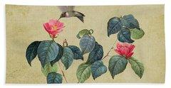 Hummingbird And Japanese Camillea Hand Towel