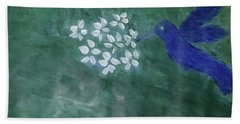 Hummingbird And The Lily Pads Bath Towel