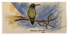 Hummingbird At Rest Hand Towel