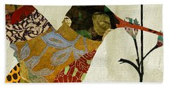 Hummingbird Brocade IIi Hand Towel by Mindy Sommers